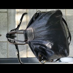 *NO OFFERS*Hobo Black Huge Spacious Leather Bag